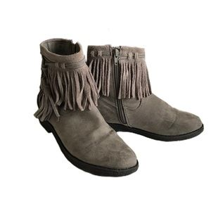 Circus by Sam Edelman Suede Booties Taupe